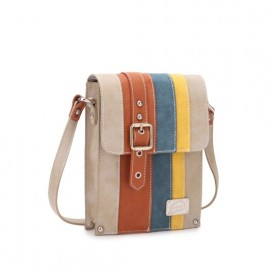 Hi Di Hi Cross Body Tas Side Walk Beige-Cognac-Blauw-Geel