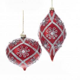 Set van 2 Glazen Kerstballen Onion en Kismet