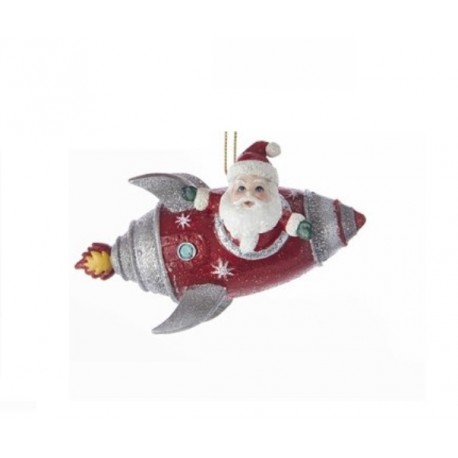 Kerstboomhanger Kerstman in Raket