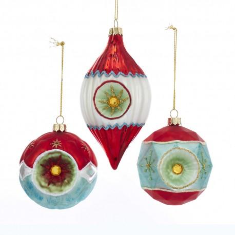 Set van 3 Retro Kerstballen Reflector Ø 9 CM