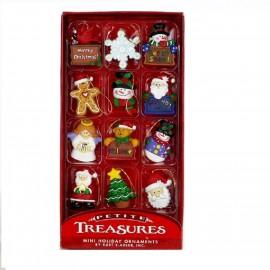 Set van 12 Miniatuur Kerstboomhangers B