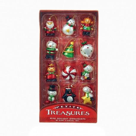 Set van 12 Miniatuur Kerstboomhangers C