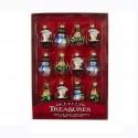 Set van 12 Glazen Miniatuur Kerstboomhangers