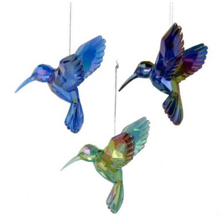 Set van 3 Acryl Kerstboomhangers Kolibries
