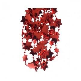 Kralenketting Plastic Ster Kerst Rood