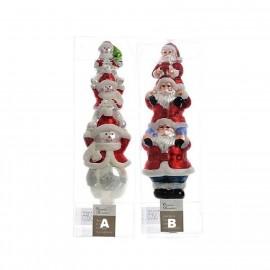 Piek Sneeuwpop Kerstman 31 CM