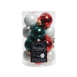 Set van 16 Glazen Kerstballen Waiting for Santa Ø 3,5 CM