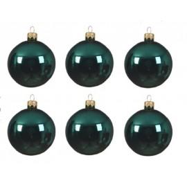 Set van 6 Glazen Kerstballen Smaragdgroen Ø 8 CM