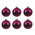 Set van 6 Glazen Kerstballen Super Pink Ø 8 CM