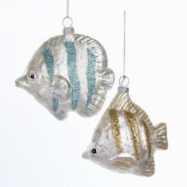 Set van 2 Glazen Kerstboomhangers Tropische Vissen