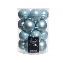 Set van 20 Glazen Kerstballen Blauwe Mist Mat Ø 6 CM