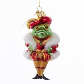 Glazen Kerstboomhanger Kikker Prins