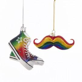 Kerstbal Gay Pride Sneakers-Snor
