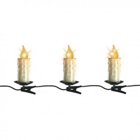 30 Kerstboomlampjes LED Kaarsverlichting  Jumbo Clip Helder