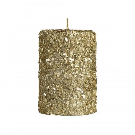 Kaars Glitter Pilaar Goud in 3 Maten