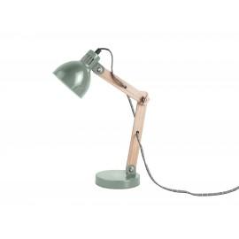 Houten Tafellamp Ogle met Metalen Kap Groen