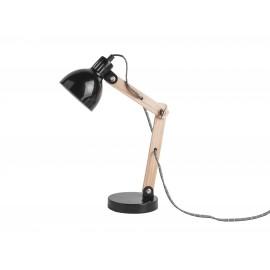 Houten Tafellamp Ogle met Metalen Kap Zwart