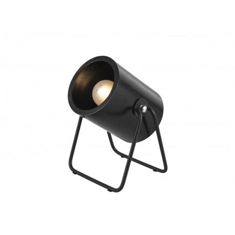 Zwart Houten Tafellamp Hefty Rond
