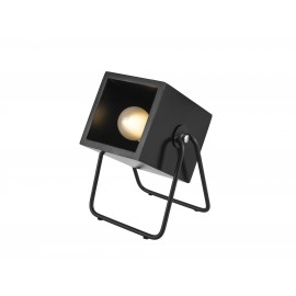 Zwart Houten Tafellamp Hefty Square