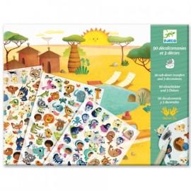 Djeco Krasplaatjes Savanne, Woestijn en Noordpool