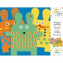 Djeco Papier Weven en Stickers Konijnen