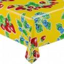 Kitsch Kitchen Tafelzeil Aardbei op Geel
