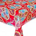 Kitsch Kitchen Tafelzeil Floralpola Rood