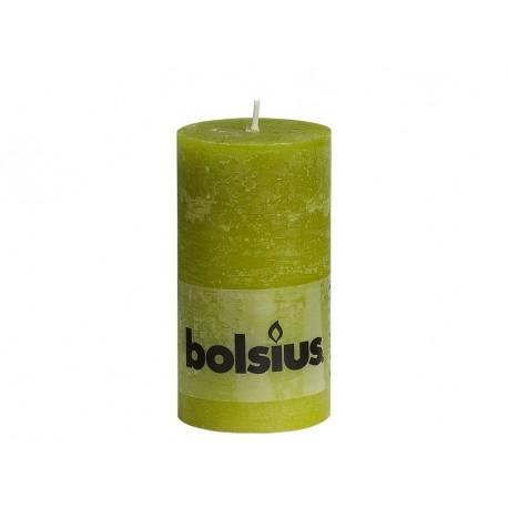 Rustieke Stompkaars Groen 13CM