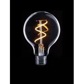 Globe 8cm Filament Spiraal LED Lamp E27 helder