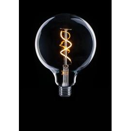 Globe 12,5cm Filament Spiraal LED Lamp Helder E27
