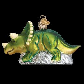 Kerstbal  Dino Triceratops