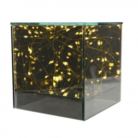 Cube Glazen Tafellamp Micro Led