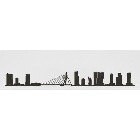 The Line Skyline Rotterdam Zwart 50 cm
