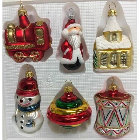 Set van 6 Kerstfiguren