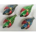 Set van 4 Kerstballen Vogels
