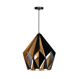 Rhomb Hanglamp Zwart-Goud