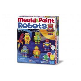4M Bouwpakket Robots Gieten en Verven