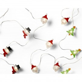 Micro LED Streng Verlichting Kerstman-Sneeuwpop-Kerstboom