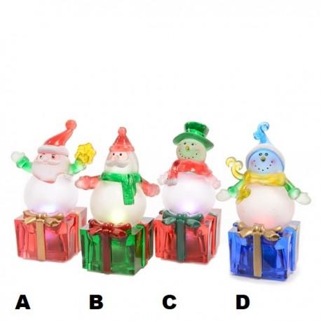 Kerst LED Figuur Sneeuwpop Kerstman