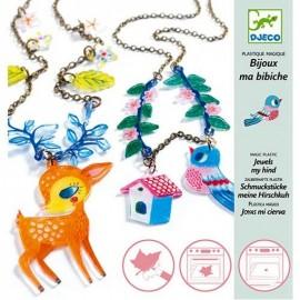 Djeco Knutselpakket Magisch Plastic Hert en Vogel