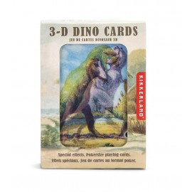 Speelkaarten 3D Dinosaurussen