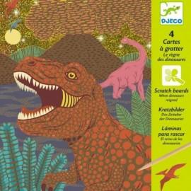 Djeco Knutselpakket Krasfolie Dinosauriërs