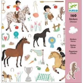 Djeco Knutselpakket Stickers Paarden