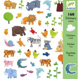 Djeco Knutselpakket Stickers Dieren