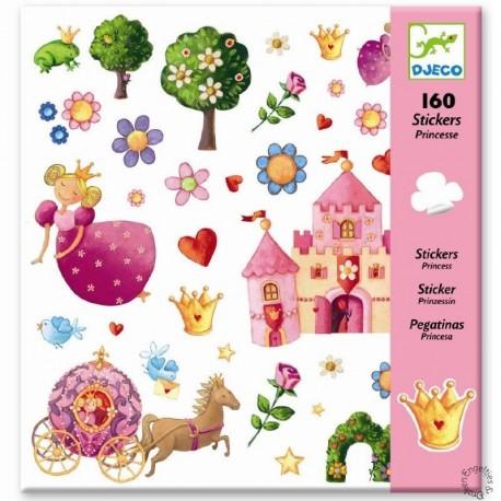 Djeco Knutselpakket Stickers Prinses