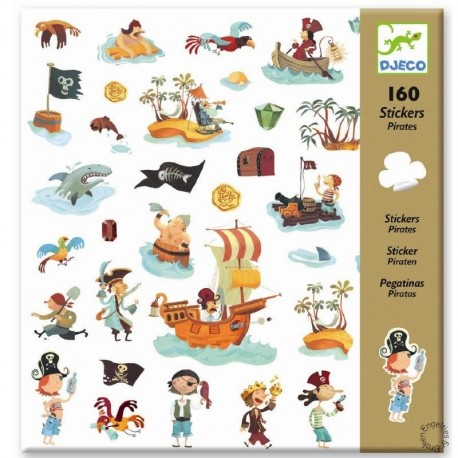 Djeco Knutselpakket Stickers Piraten