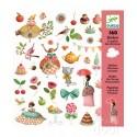 Djeco Knutselpakket Stickers Thee Drinken met Prinsessen