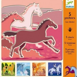 Djeco Knutselpakket Sjablonen Paarden