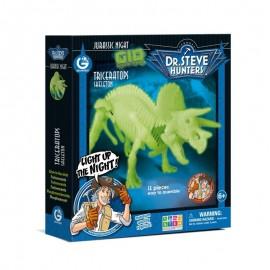 Bouwpakket Glow-In-The-Dark - Triceratops