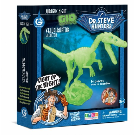 Bouwpakket Glow-In-The-Dark - Veleciraptor